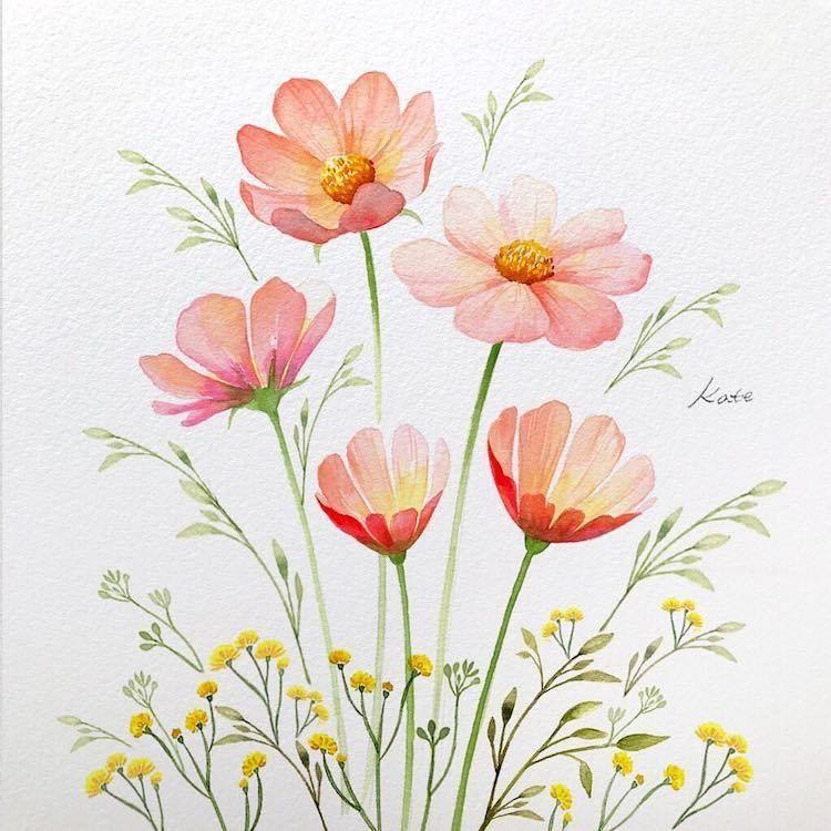 Un Artiste Revele Comment Dessiner Des Fleurs Parfaites En 3