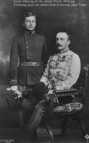 Archduke Joseph Franz Of Austria 1895 1957 With His Father Archduke Joseph August Of Austria 1872 1962 Palatine Of Hungary Oostenrijk Fotografie
