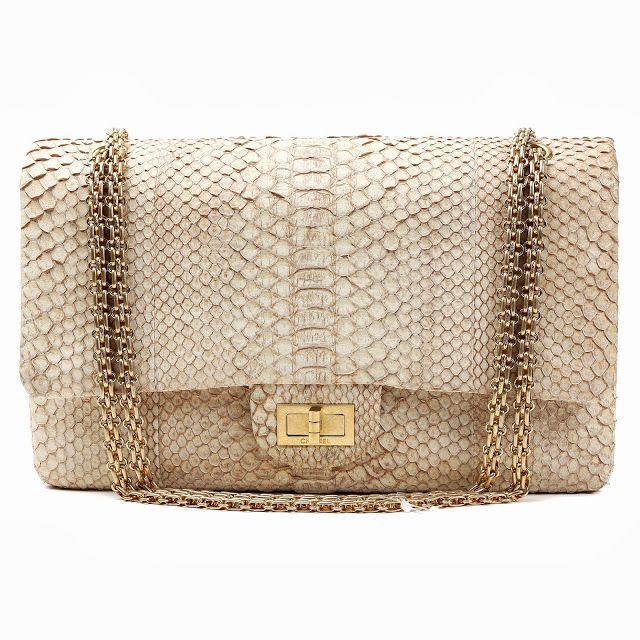 bee9d503d896 Chanel Beige Python 2.55 Reissue Bag | Bags | Fashion bags, Chanel, Bags