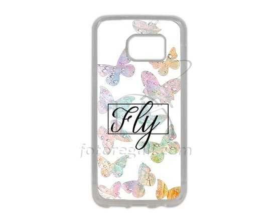Grafica con farfalle per cover Galaxy S7