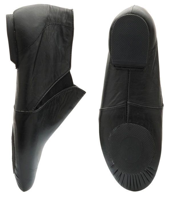 Starlite Sprite Slip On Rubber Sole Jazz Boots Black Jazz Shoes