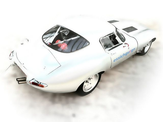 one of my real favourites: one of the rare Jaguar E Type lightweight Coupés of the 1960´s.    Seen at Düsseldorf Meilenwerk.     Nice Jaguar photo found on the web