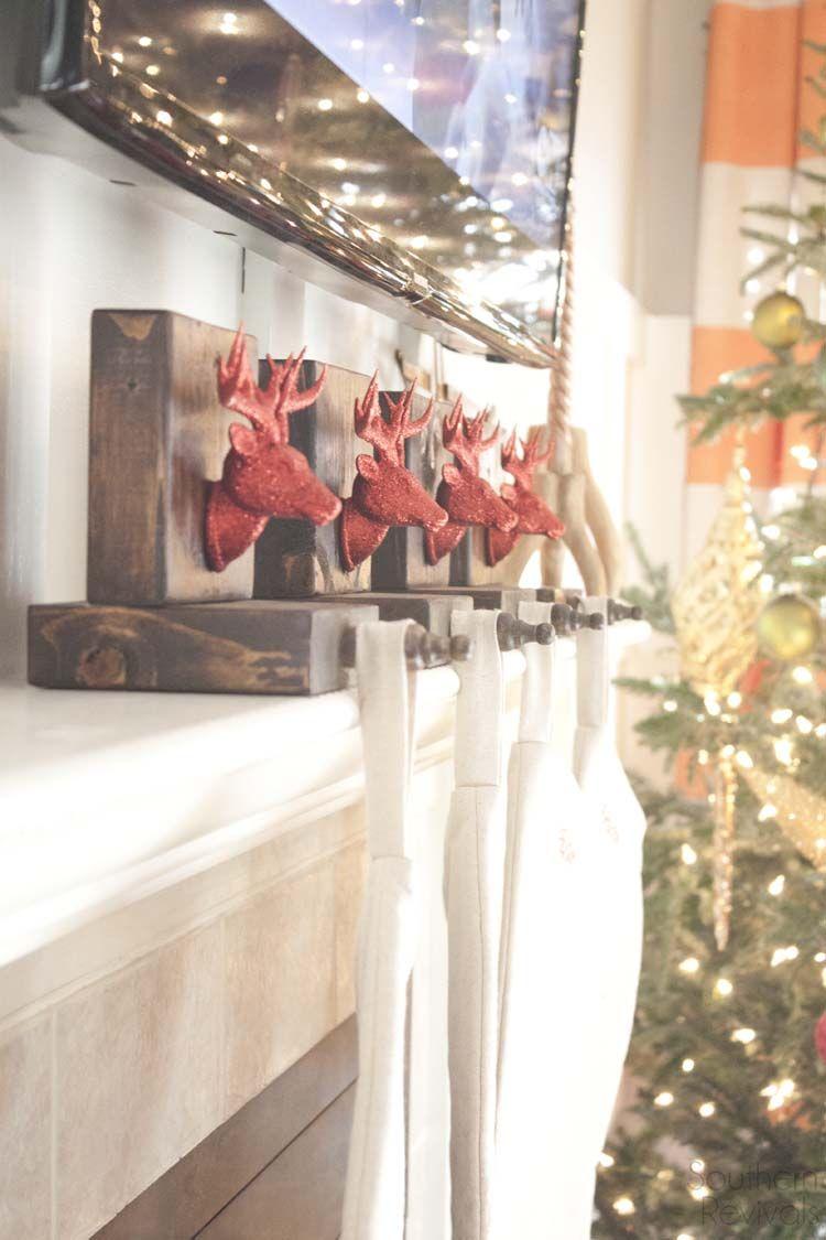 Diy Wooden Reindeer Stocking Holders Southern Revivals Christmas Diy Wood Wooden Reindeer Diy Stocking Holder