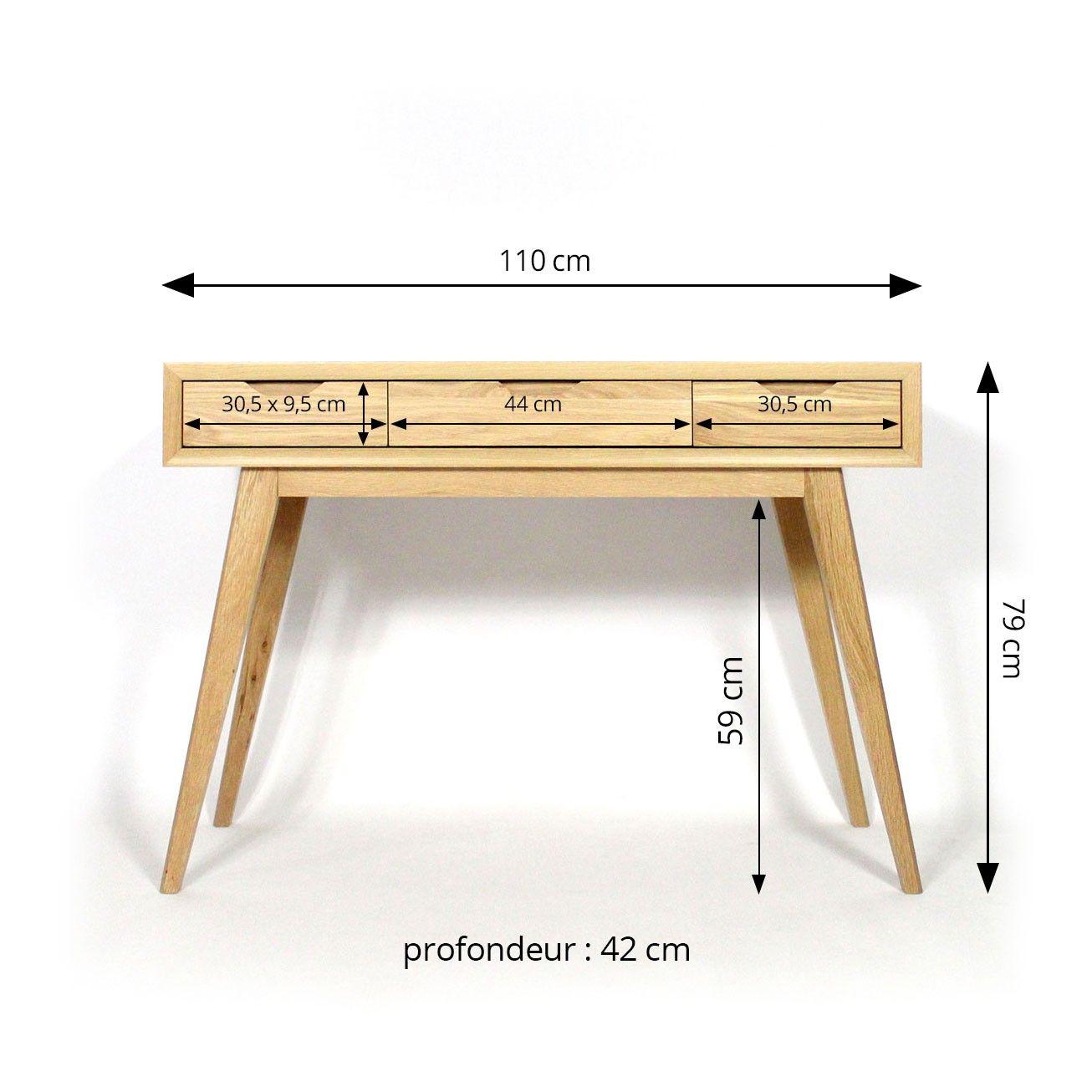 console bois massif meuble console