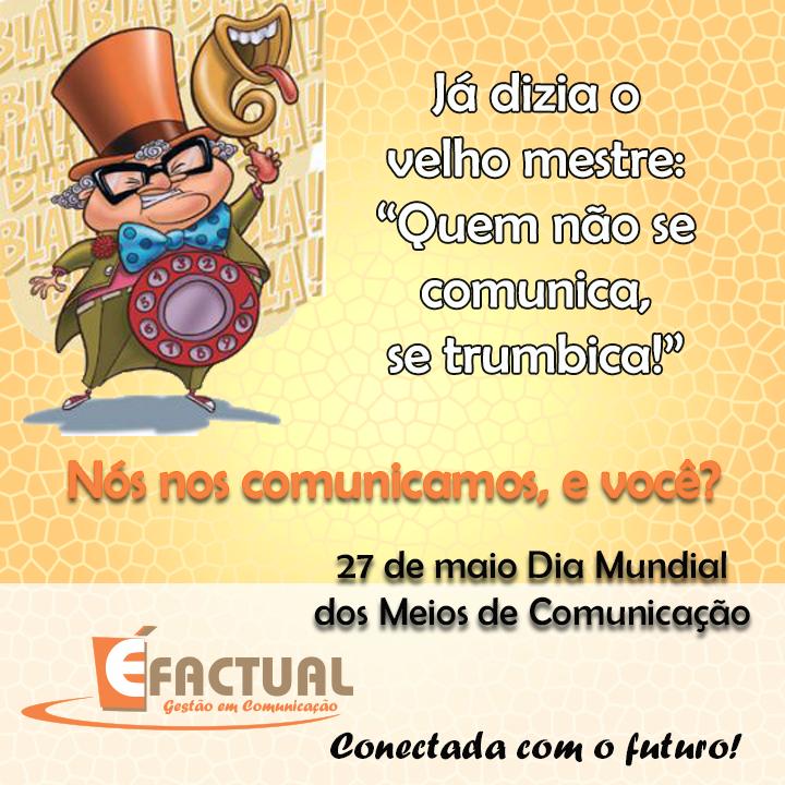 Layout para redes sociais Cliente: Éfactual Gestão em Comunicação