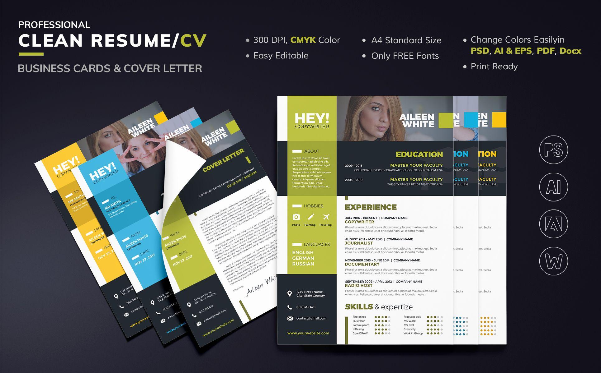 Aileen White Copywriter Resume Template 66094 Design