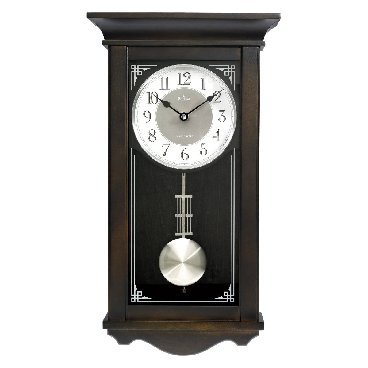 Bulova Elsmere Wall Chime Clock 11in Wide 12999 To buy