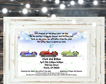 Drive by Baby Shower Invitation Edit Listing Etsy in