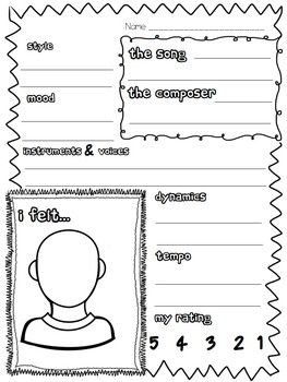 music listening worksheet bundle worksheets music education and music class. Black Bedroom Furniture Sets. Home Design Ideas