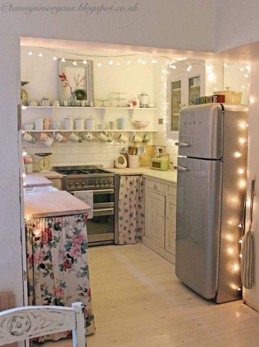 Shelf across kitchen window   awesome small apartment kitchen remodel ideas  small apartment
