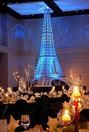 Paris Eiffel Tower Moulin Rouge Theme Party Decor Rental Paris