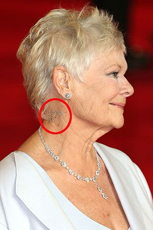 Hot actress Judi Dench gets neck vajazzled