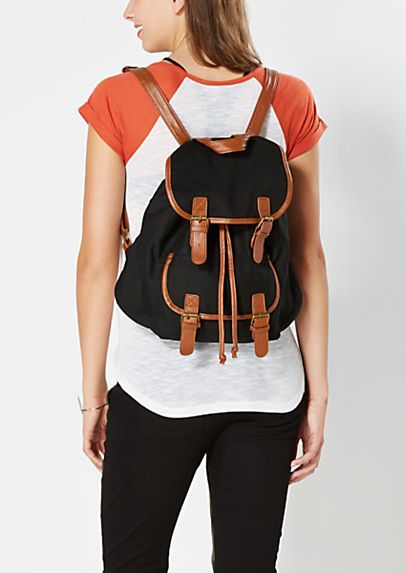 image of Double Buckled Mini Backpack