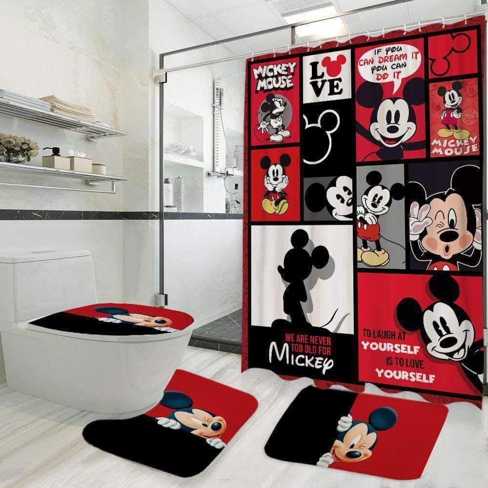 Mk Mouse Bathroom Set Mickey Mouse Bathroom Mickey Bathroom Disney Bathroom