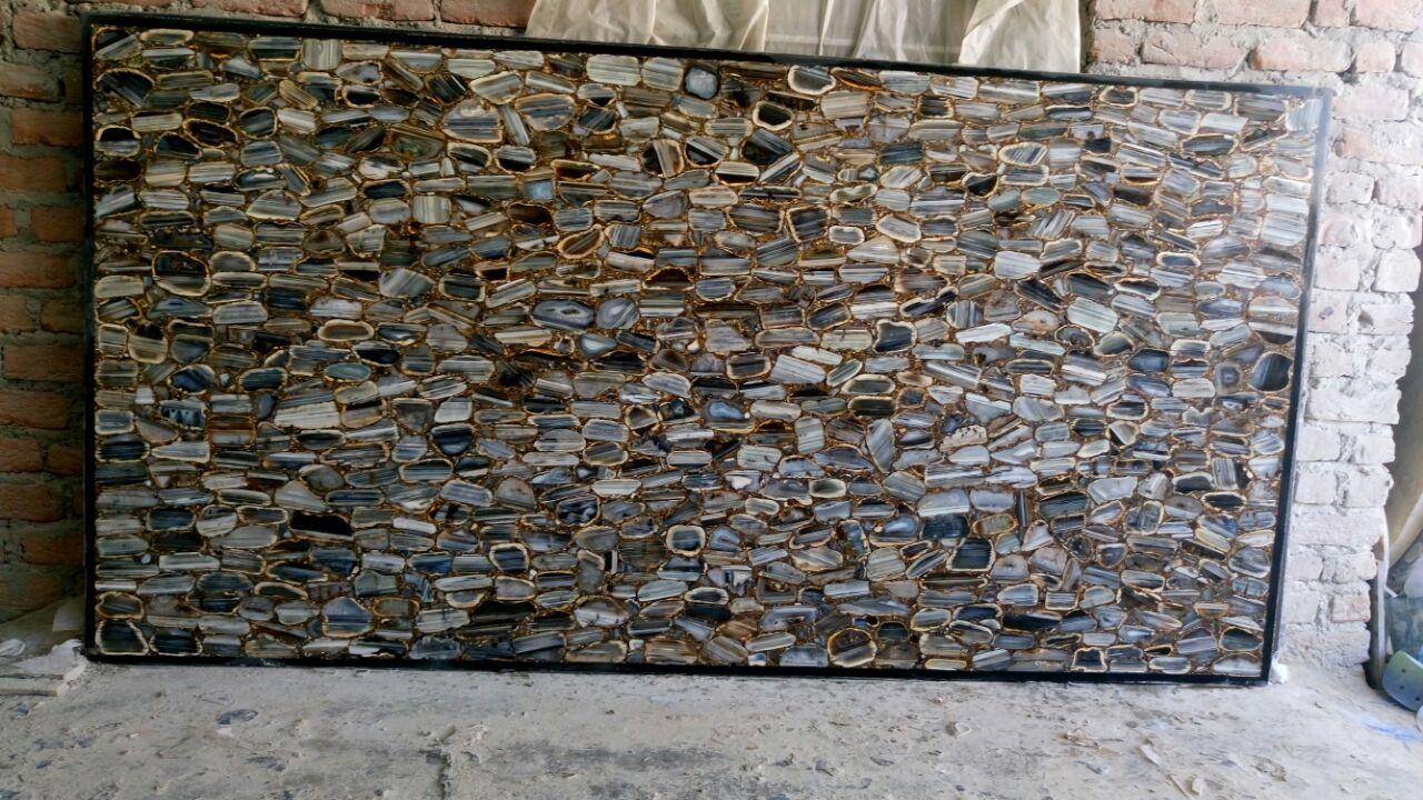 pinheight stones on semiprecious stone slab home decor | pinterest