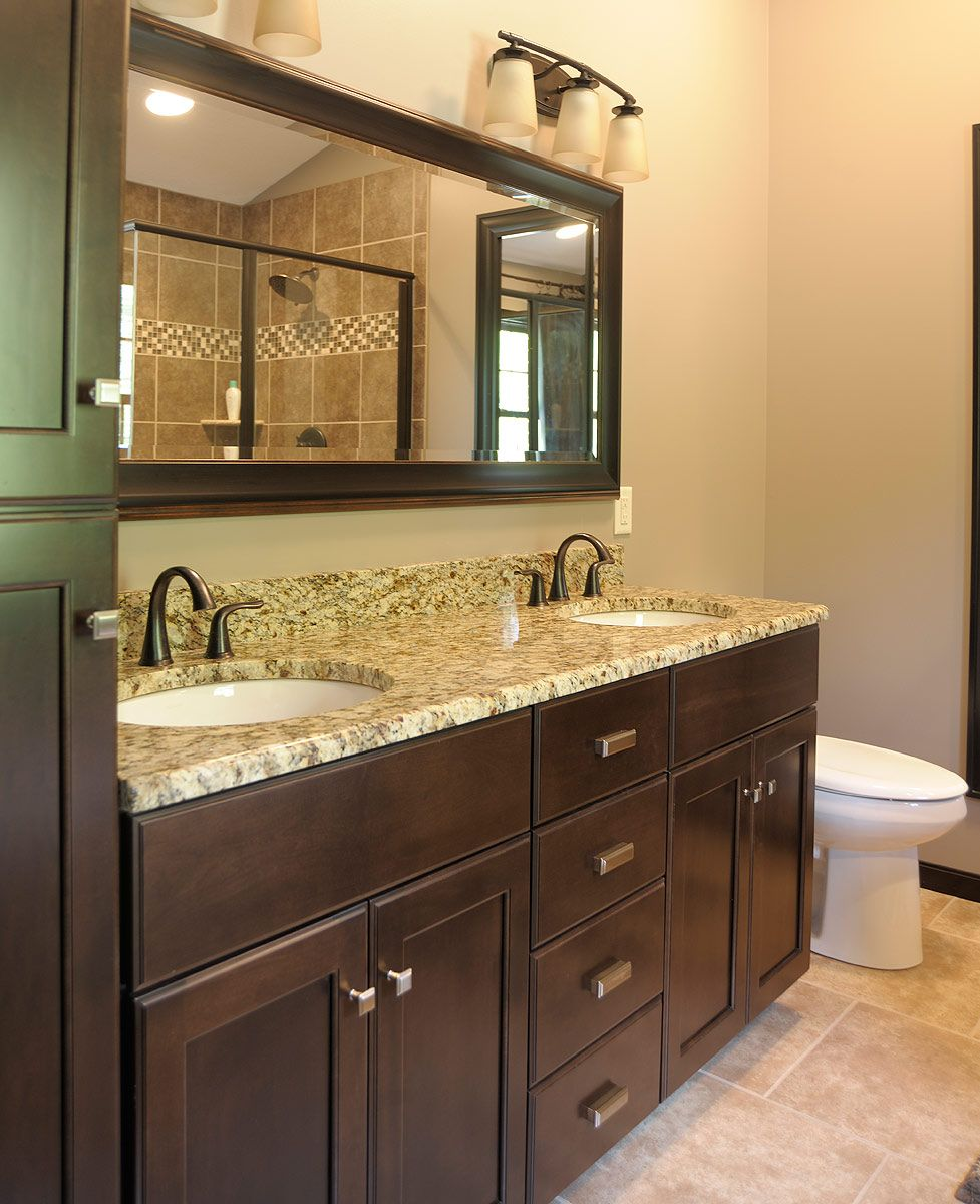 Kitchen Upstairs: Vanity With Two Sinks