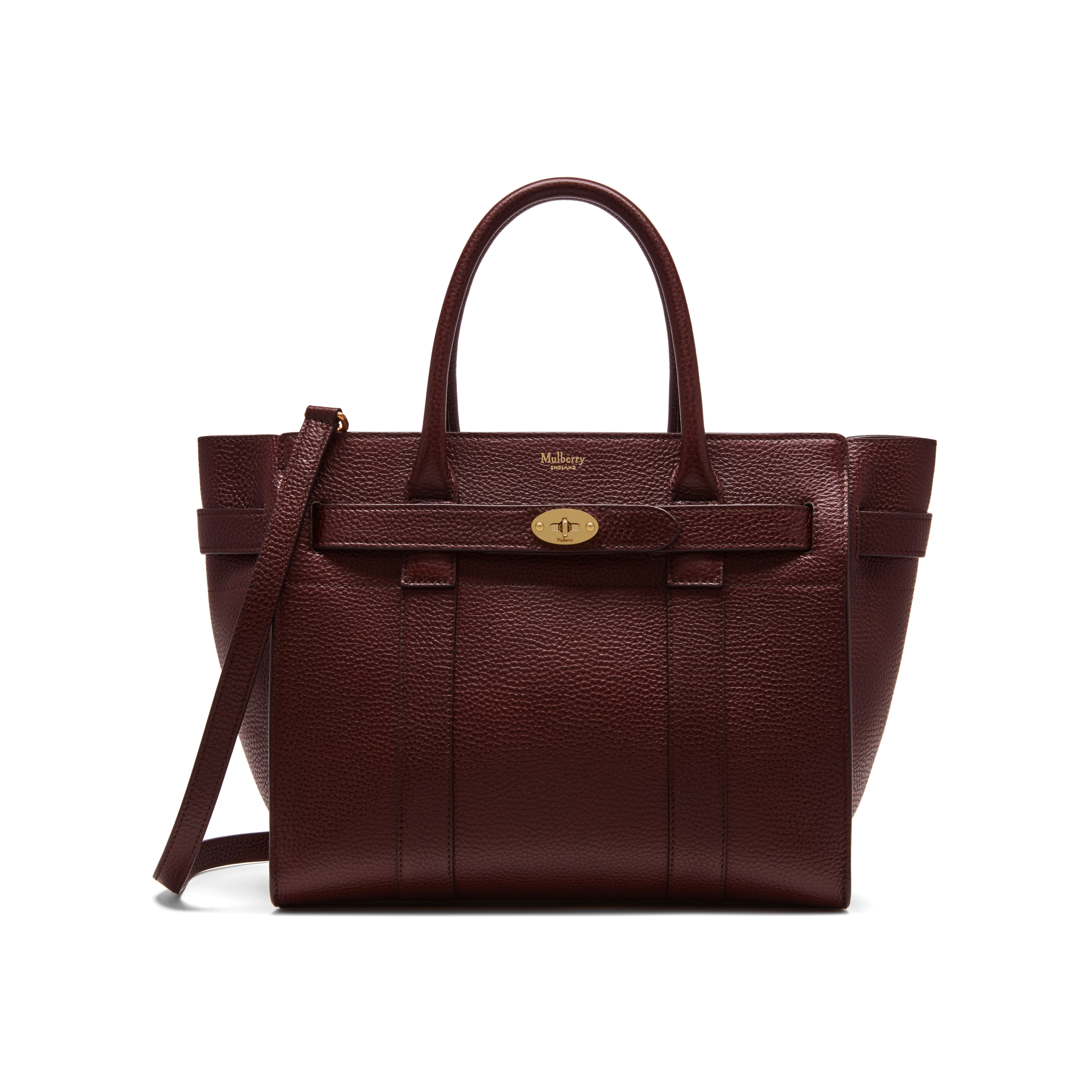 Shop the Small Zipped Bayswater in Oxblood Natural Grain Leather. The  Bayswater is our most 8ec3246790