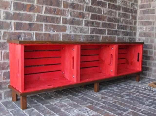 Diy Crate Bench Crate Bench Home Diy Diy Furniture