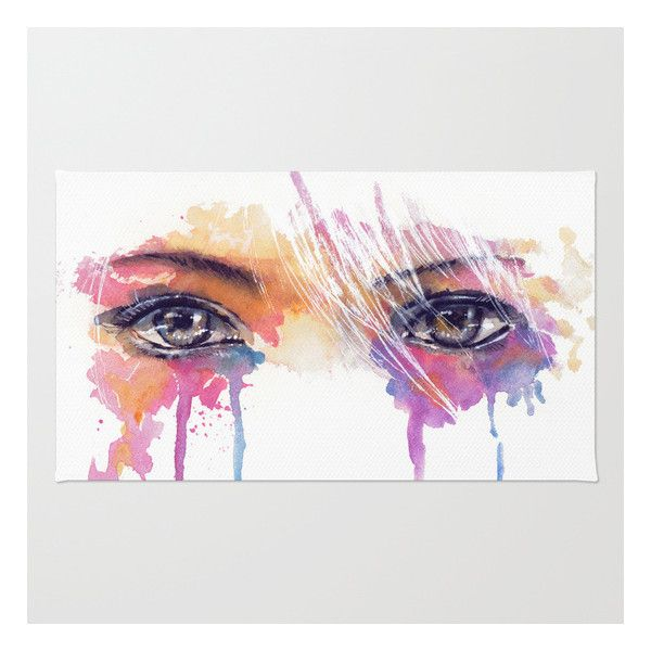 Rainbow Tears Rug (€24) ❤ liked on Polyvore featuring home, rugs, backgrounds, art, decor, filler, magazine, machine washable rugs, non skid area rugs and machine wash rugs