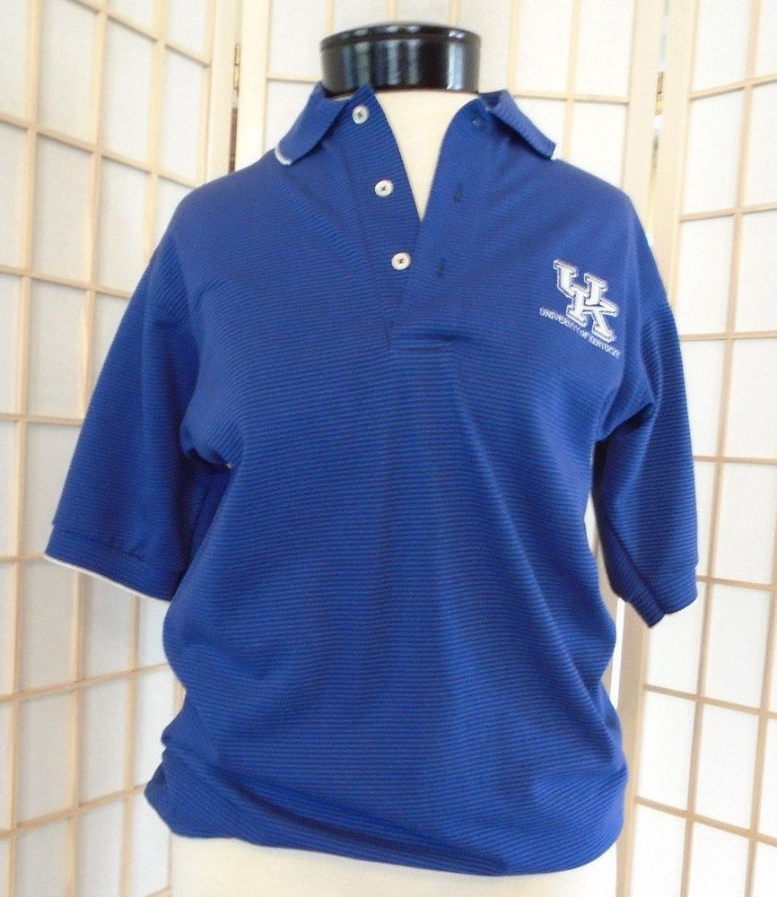 Outer Banks Mens Kentucky Wildcats Blue Embroidered Polo Shirt Uk