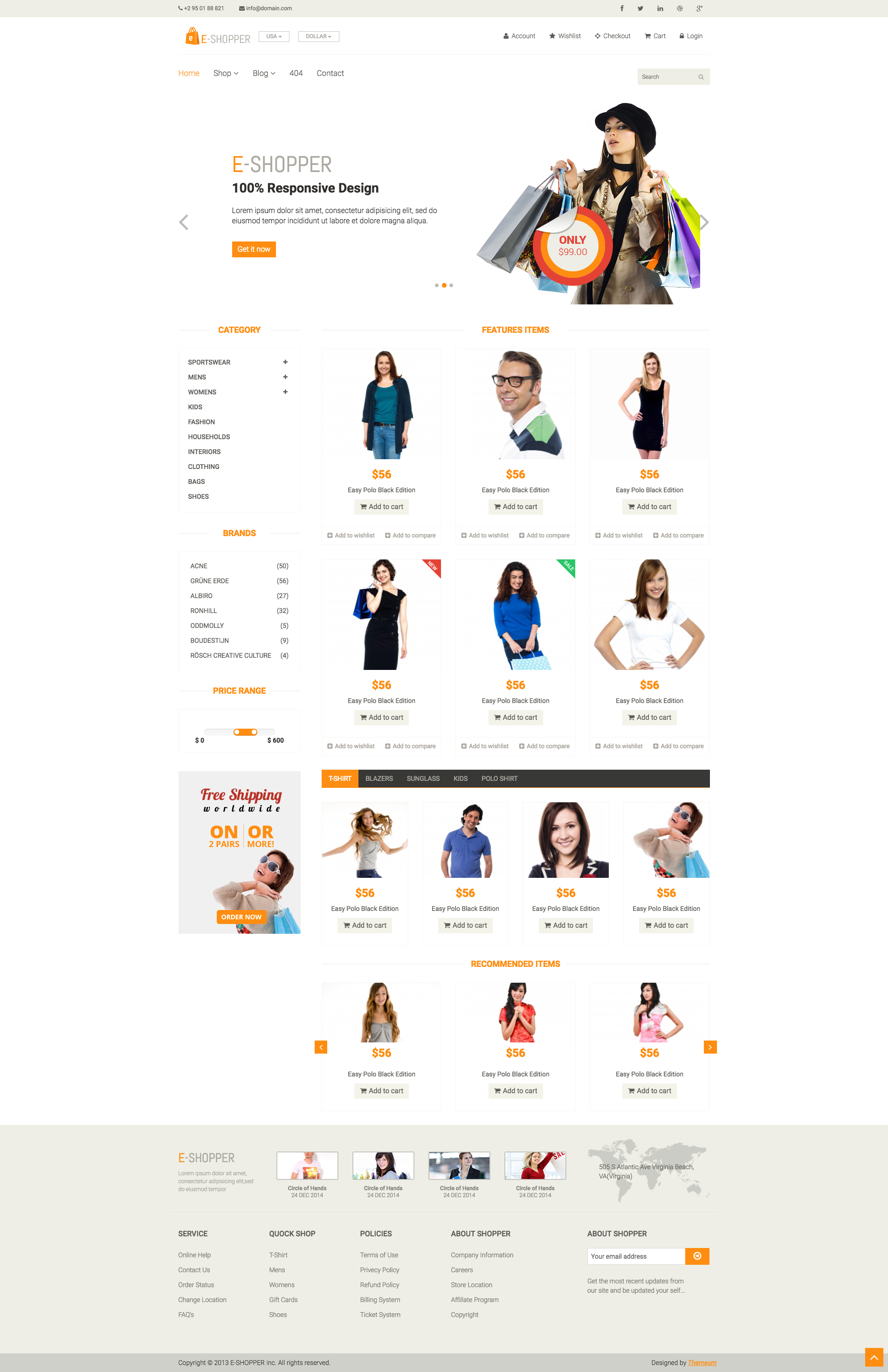 Eshopper Ecommerce Html Template This 100 Responsive Html