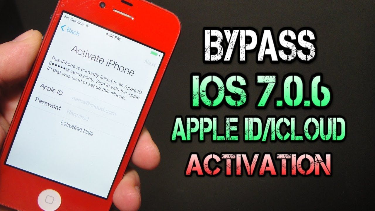 How To Bypass iOS 7.0.6 Apple ID Activation Lock iCloud