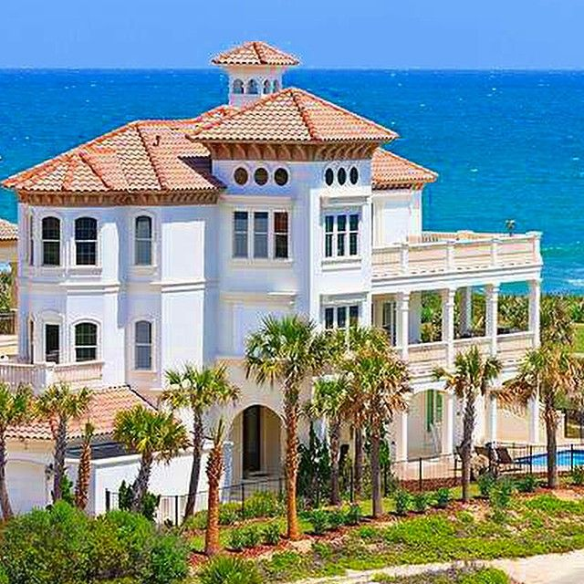 Luxury Waterfront Homes: Florida Mansion #mansion #luxury