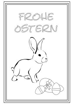 karte mit osterhasen und ostereier | osterkarten, karten, grußkarten