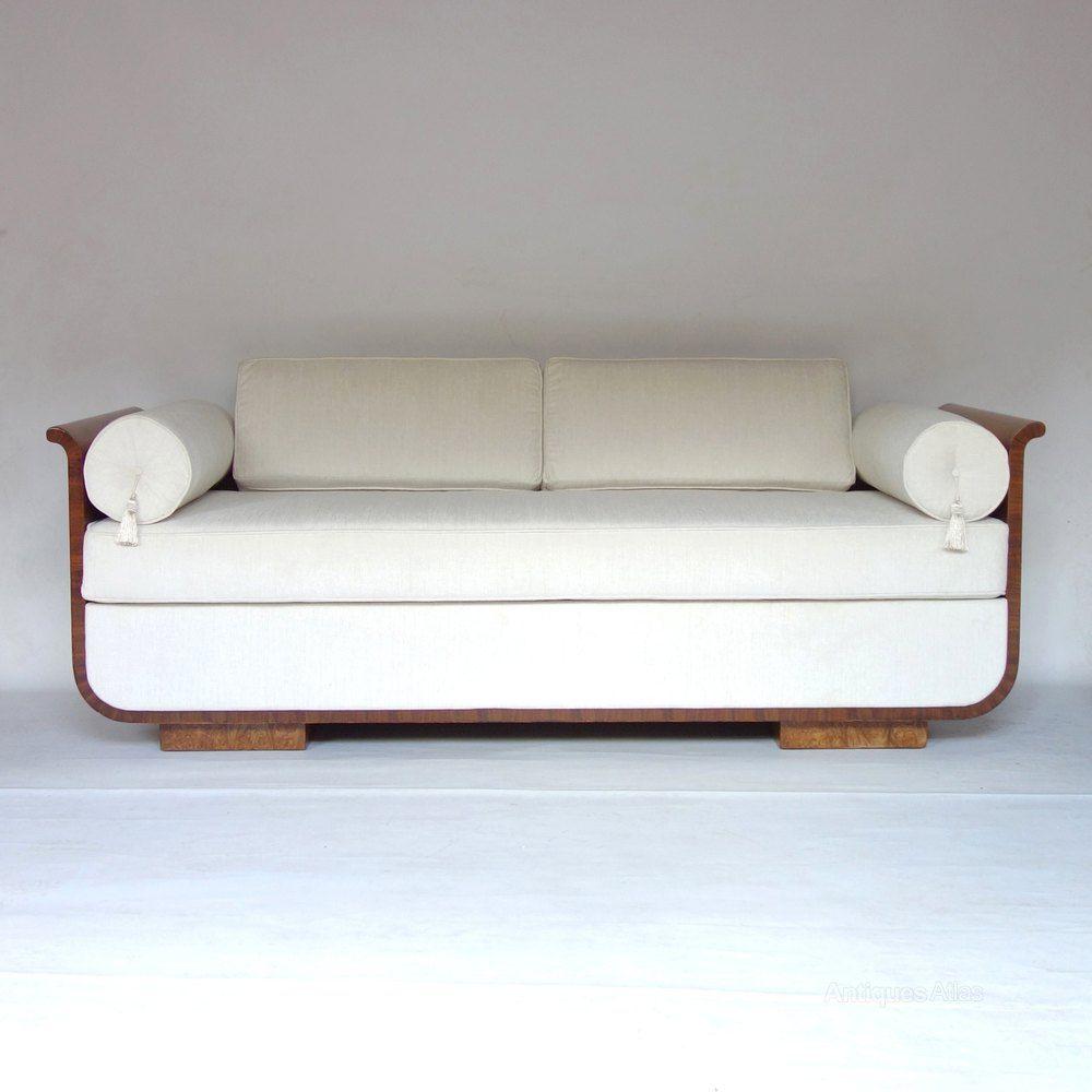 art deco daybed sofa czech jindrich halabala 1930s antiques atlas rh pinterest com