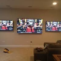 Two Tvs Mounted Side By Side Google Search Mounted Tv Game Room Tvs