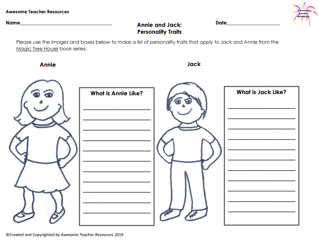 This Graphic Organizers Allow Students Who Read Mary Pope