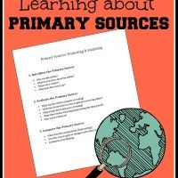 Learning to Evaluate Primary Sources (free printable)