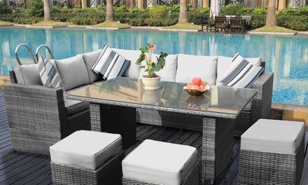 Barcelona Rattan Sets In 2 Styles Groupon