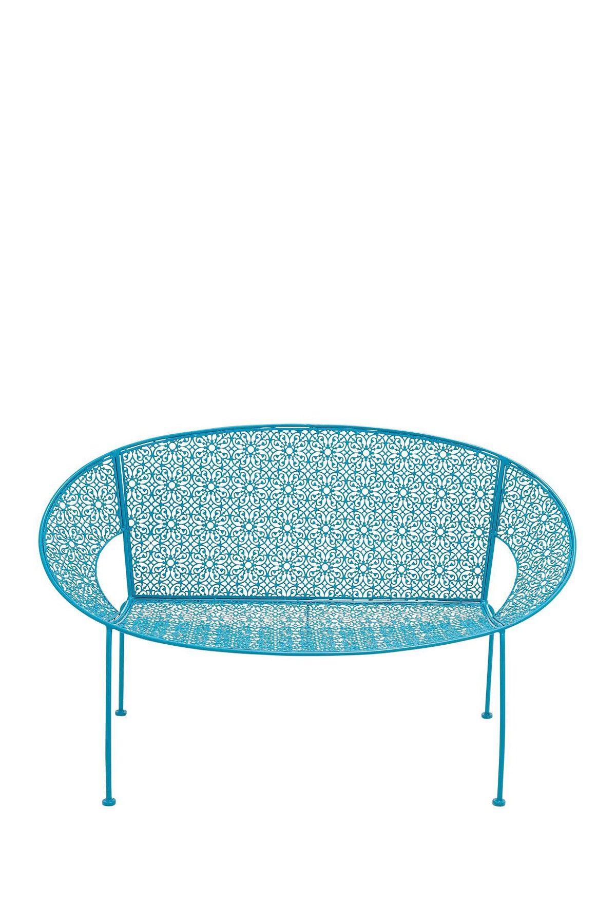 metal blue garden bench - set of 2 on hautelook | garden