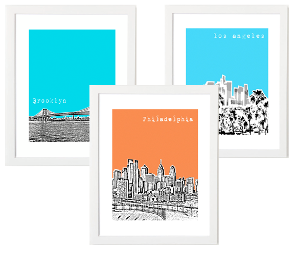 City Skyline Posters- find these people on Etsy we have an awesome UM skyline.