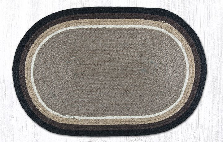 "ITC-09 Sand/Black In The City Rectangle Rug 27""x45"""