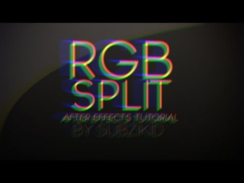 RGB Split Transition Tutorial | After Effects - YouTube | AE