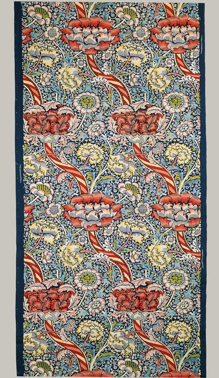 """Wandle,"" design registered July 28, 1884  (detail) / Designed by William Morris / printed cotton"