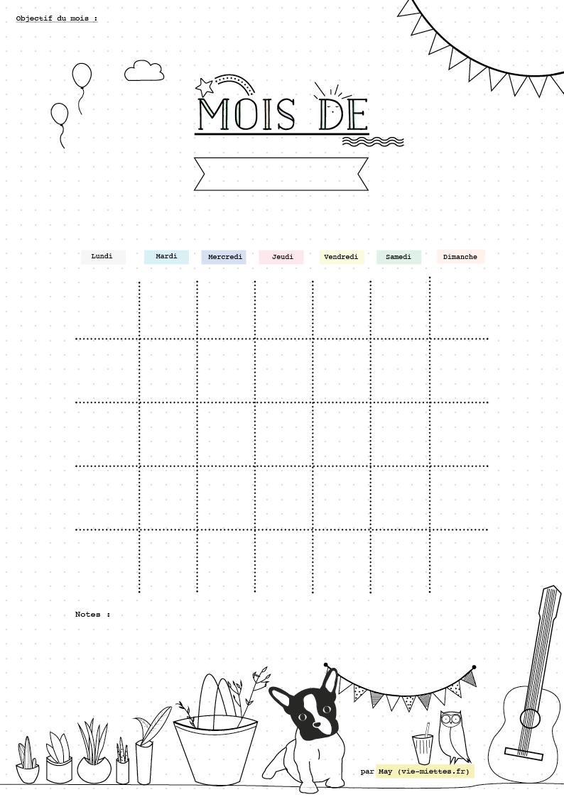 calendrier de la rentr e journal pinterest bullet journal journal and bullet. Black Bedroom Furniture Sets. Home Design Ideas