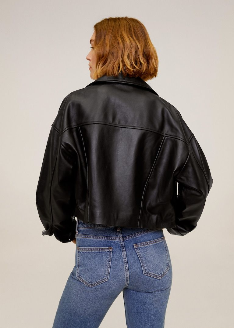 Leather Biker Jacket Women Mango Usa Womens Biker Jacket Biker Jacket Leather Biker Jacket [ 1074 x 768 Pixel ]