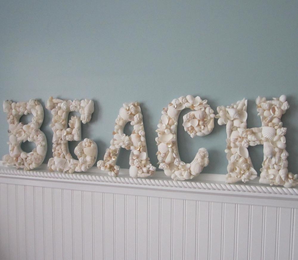 Beach Decor Seashell Letters