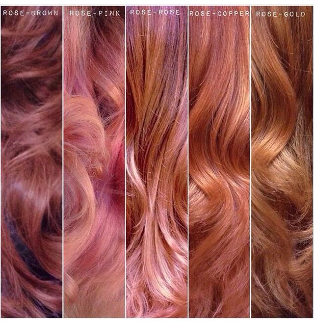 Rose Gold Colors Coloracion De Cabello Cabello Y Maquillaje