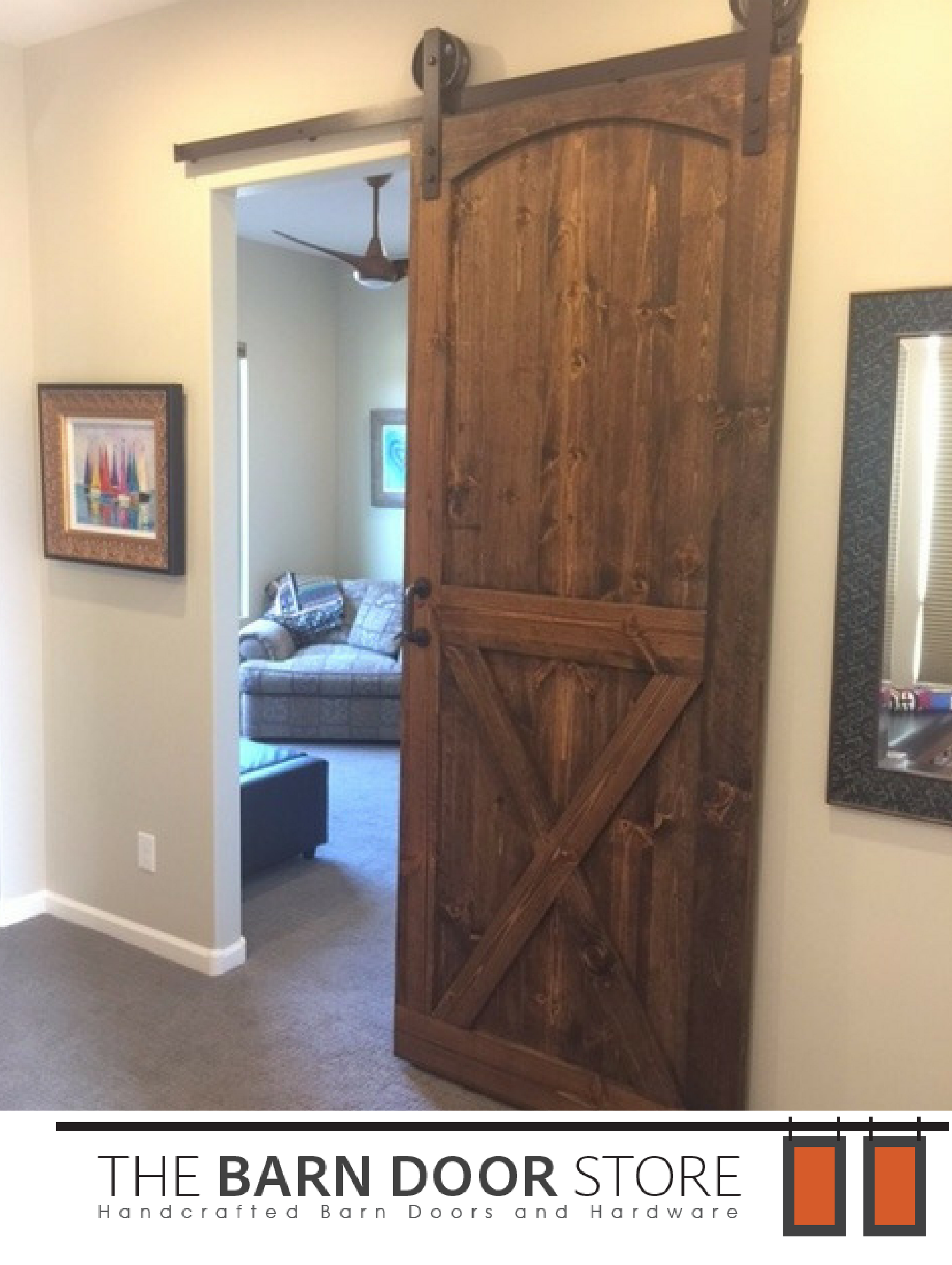 Add Some Privacy To Any Room By Adding A Beautiful Custombarndoor Door Details Eyebrow Arch Bottom X Barn Doors Sliding Barn Door Interior Barn Doors