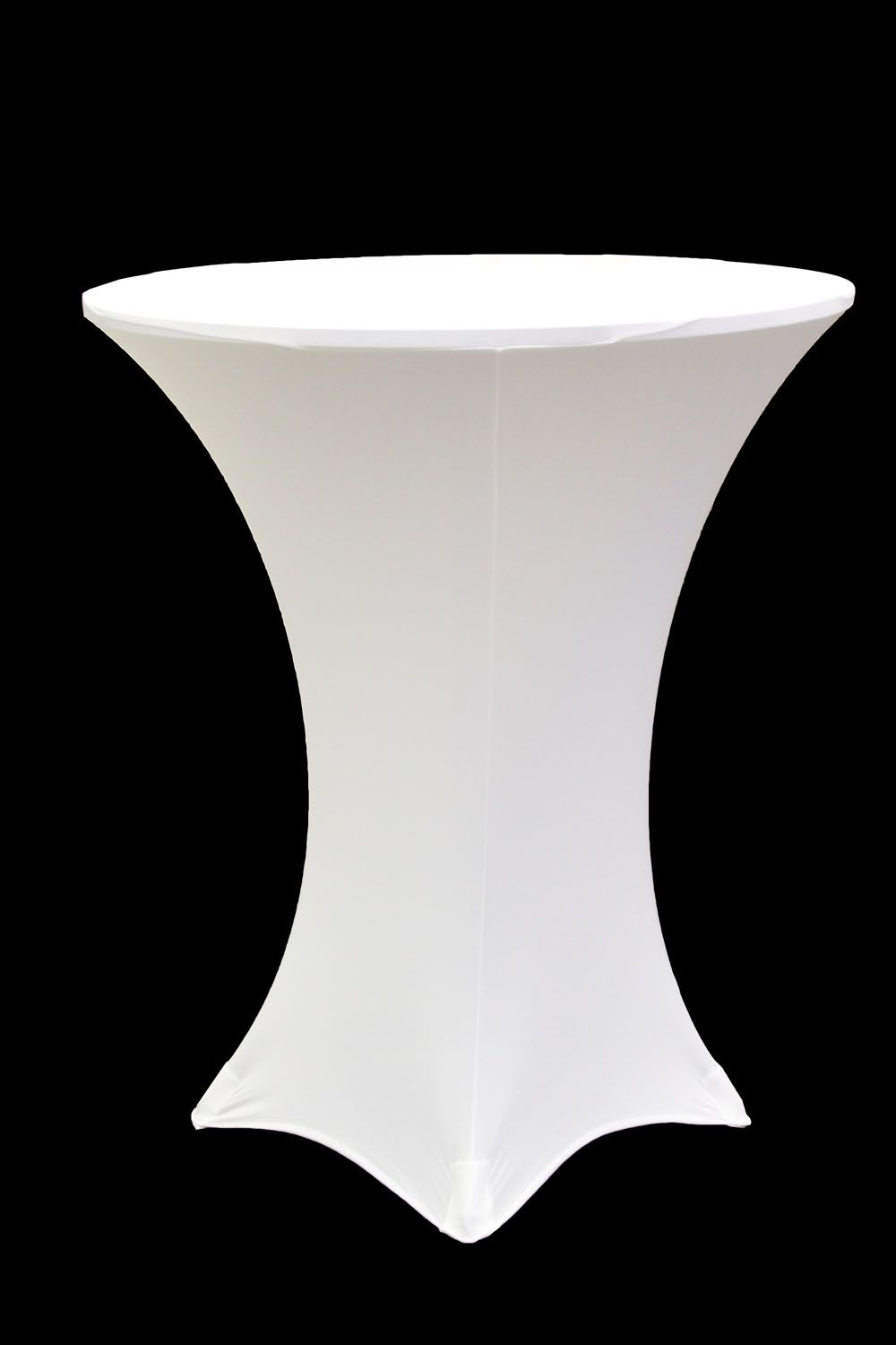 Spandex Cocktail Table Covers - Spandex cocktail table cover 36 round white
