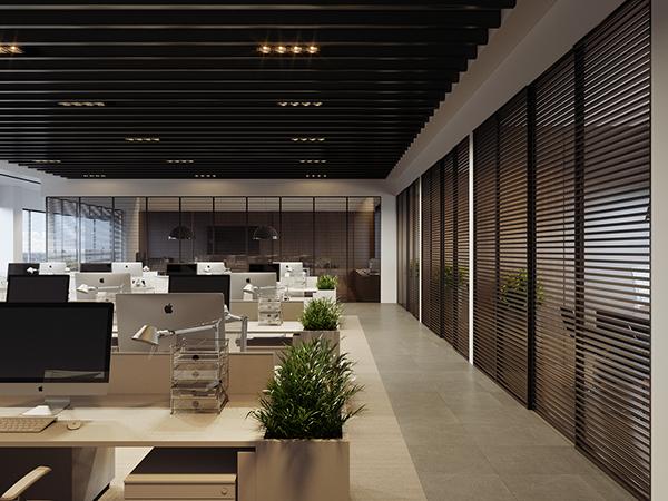 Office 003 On Behance Office Interior Design Modern Office Interior Design Open Office Design