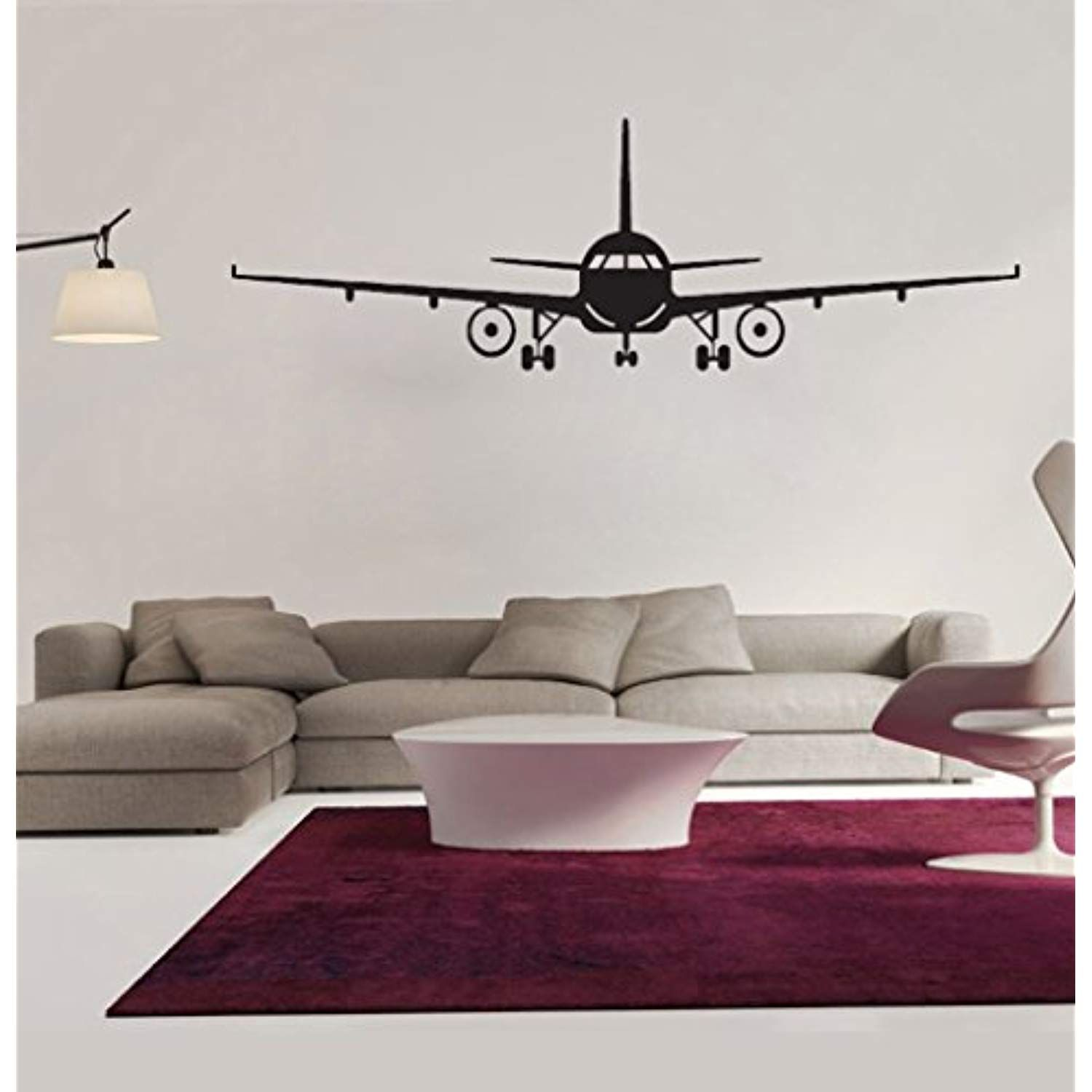 Bibitime Military Army Cargo Airplane Silhouette Sticker Decal Flying Pilots Home Decor L 51 97 X 16 54 I Wall Decor Stickers Airplane Wall Airplane Wall Art [ 1500 x 1500 Pixel ]