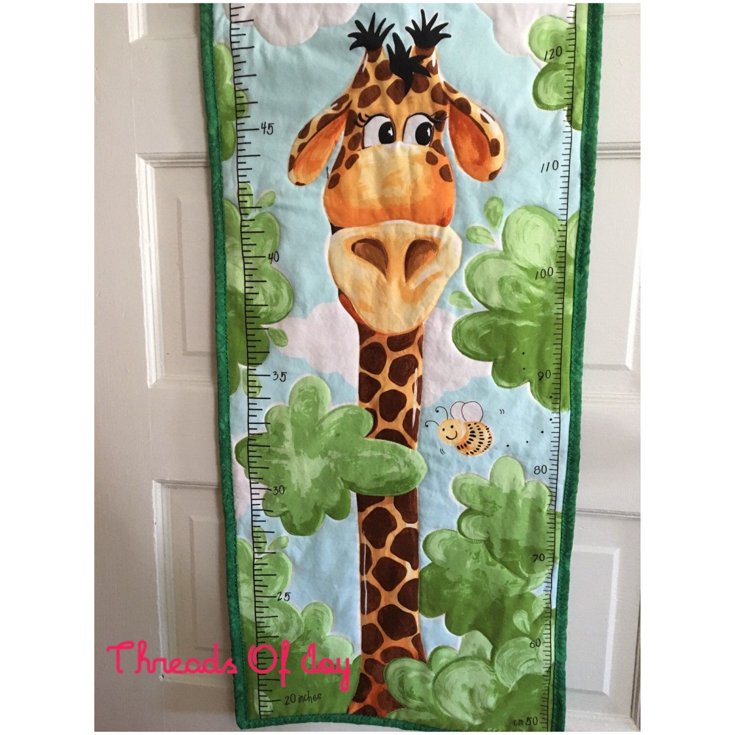 Children's growth charts hang one in their bedroom and make wonderful memories. A keepsake you will always treasure!!
