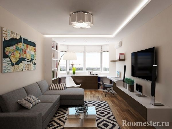 Дизайн однокомнатной квартиры 40 кв. м - 100 фото и 7 ...