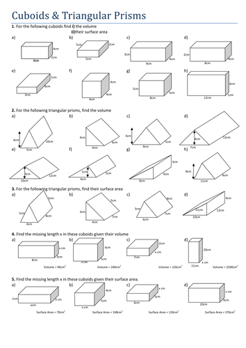 maths cuboids and triangular prisms secondary maths pinterest math tes resources and. Black Bedroom Furniture Sets. Home Design Ideas