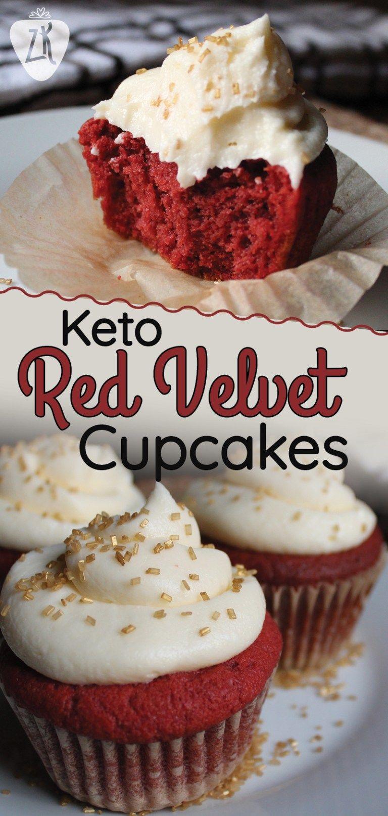 Keto Red Velvet Cupcakes – Zenberry Keto #ketodesserts